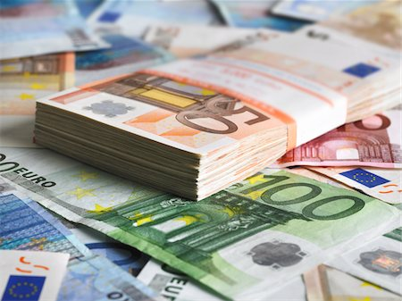 Pack of euros Stock Photo - Premium Royalty-Free, Code: 618-05605142