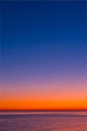 southern california - Colorful twilight before sunset over the Pacific. Stock Photo - Premium Royalty-Free, Code: 618-05605390