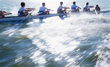 sport rowing teamwork - Athletes in a crew long canoe Stock Photo - Premium Royalty-Free, Code: 618-05761574