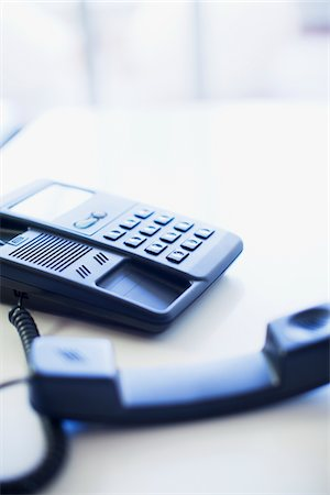 phone cord - Close-up of phone on desk Stock Photo - Premium Royalty-Free, Code: 618-05761667