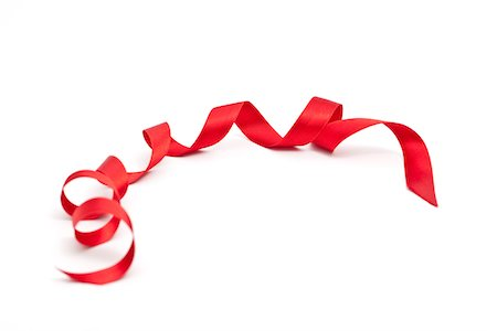 silk - curled red ribbon Stock Photo - Premium Royalty-Free, Code: 618-05761804