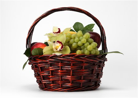 A basket of fruit and flowers Stock Photo - Premium Royalty-Free, Code: 618-05761941