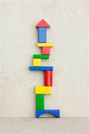 A tower of building blocks Stock Photo - Premium Royalty-Free, Code: 618-05799646