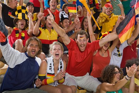 soccer fan - German fans at soccer game in Cape Town, South Africa Stock Photo - Premium Royalty-Free, Code: 618-05800165