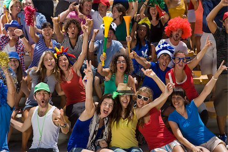 soccer fan - Fans at soccer game in Cape Town, South Africa Stock Photo - Premium Royalty-Free, Code: 618-05800168