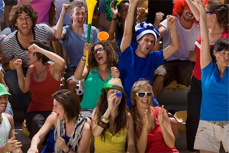 soccer fan - Fans at soccer game in Cape Town, South Africa Stock Photo - Premium Royalty-Free, Code: 618-05800170