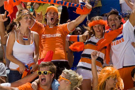 soccer fan - Dutch fans at soccer game in Cape Town, South Africa Stock Photo - Premium Royalty-Free, Code: 618-05800171