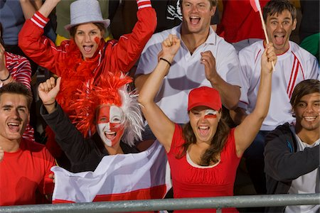 soccer fan - Polish fans at soccer game in Cape Town, South Africa Stock Photo - Premium Royalty-Free, Code: 618-05800188