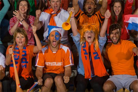 soccer fan - Dutch fans at soccer game in Cape Town, South Africa Stock Photo - Premium Royalty-Free, Code: 618-05800196