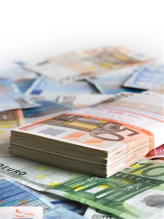 Pack of euros Stock Photo - Premium Royalty-Free, Code: 618-05818211