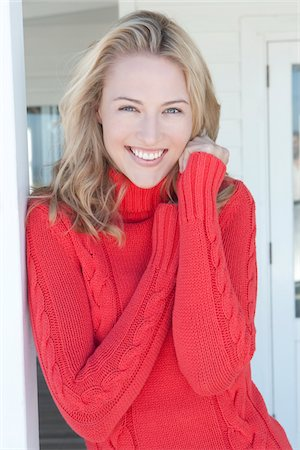 sweater - Portrait of Young Woman Stock Photo - Premium Royalty-Free, Code: 618-05963156