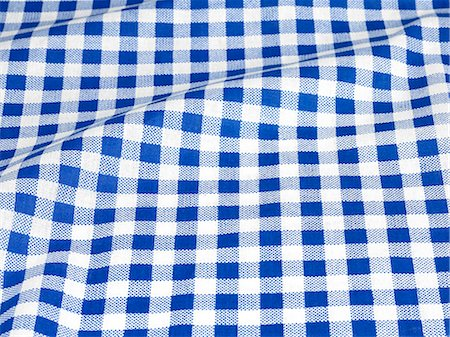 fabric - Checked tablecloth Stock Photo - Premium Royalty-Free, Code: 618-06119034