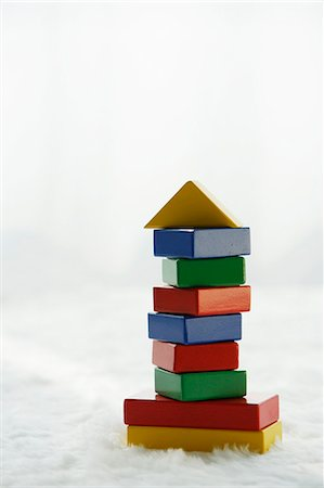 stack of colourful building blocks Stock Photo - Premium Royalty-Free, Code: 618-06318938