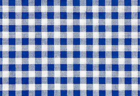 Checked tablecloth Stock Photo - Premium Royalty-Free, Code: 618-06346925