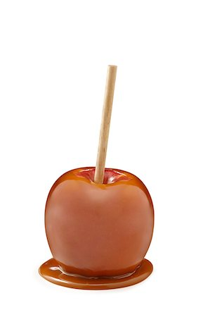 Caramel Apple on a stick Stock Photo - Premium Royalty-Free, Code: 618-06347067
