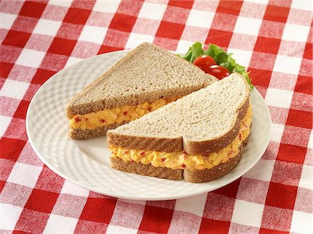 pimento - Pimiento Cheese sandwich on wheat bread Stock Photo - Premium Royalty-Free, Code: 618-06405222
