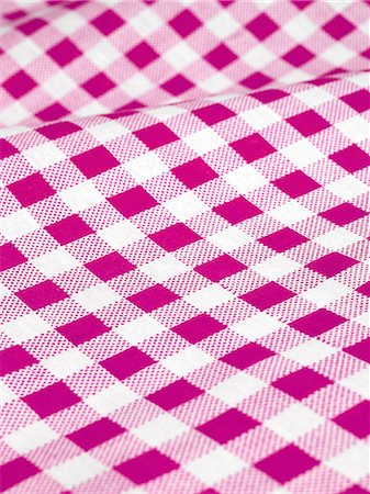 Checked tablecloth Stock Photo - Premium Royalty-Free, Code: 618-06436535