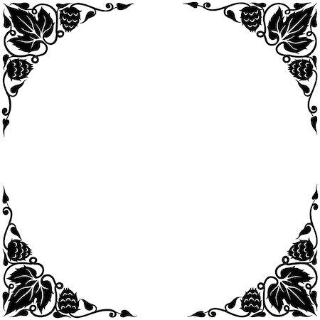 silhouette black and white - Ornate Frame/Corniche Stock Photo - Premium Royalty-Free, Code: 618-06436710