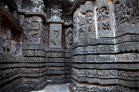 The exteriors of Halebidu Temple,Karnataka Stock Photo - Premium Royalty-Free, Code: 618-06436800