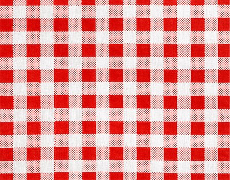 Checked tablecloth Stock Photo - Premium Royalty-Free, Code: 618-06504175