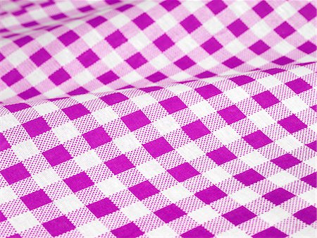 Checked tablecloth Stock Photo - Premium Royalty-Free, Code: 618-06504171