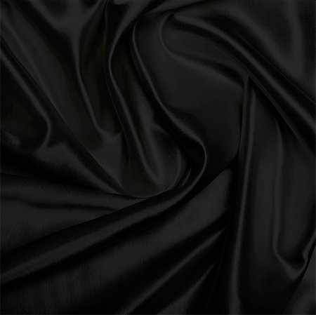 silk - Black piece of satin cloth Stock Photo - Premium Royalty-Free, Code: 618-06503486