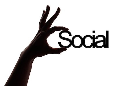 silhouette hand - Social Stock Photo - Premium Royalty-Free, Code: 618-06538720