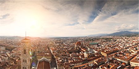 from top of duomo in florence Stock Photo - Premium Royalty-Free, Code: 618-06538730