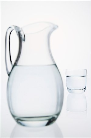 jug and glass of water Stock Photo - Premium Royalty-Free, Code: 618-06539041