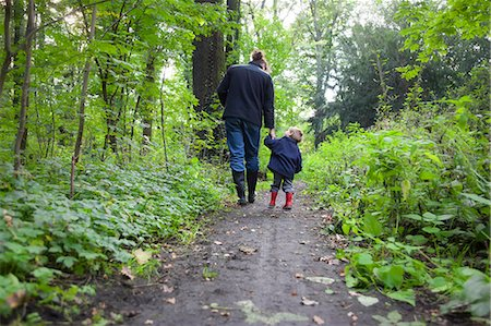 Father and Son in the Woods Stock Photo - Premium Royalty-Free, Code: 618-06618288