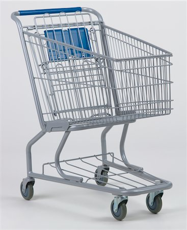 empty shopping cart - Empty grocery cart Stock Photo - Premium Royalty-Free, Code: 618-07379399