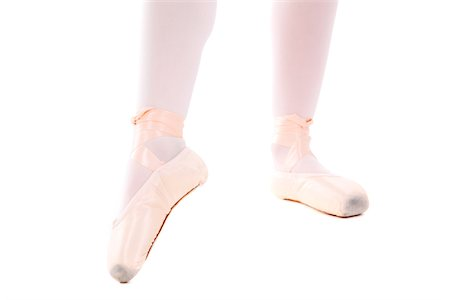 preteen girl feet - Pointe shoes Stock Photo - Premium Royalty-Free, Code: 618-07384713