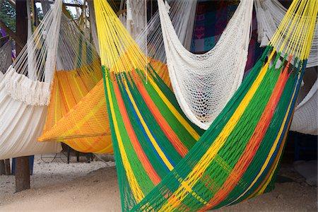 Mexican Hammocks Stock Photo - Premium Royalty-Free, Code: 618-07385508
