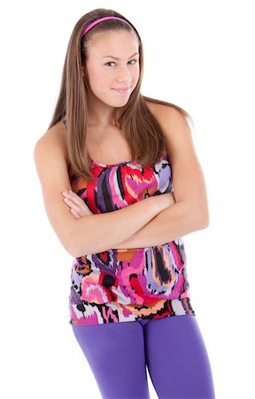 pantyhose kid - Standing girl Stock Photo - Premium Royalty-Free, Code: 618-07398595