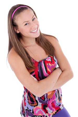 pantyhose kid - Happy girl Stock Photo - Premium Royalty-Free, Code: 618-07398600