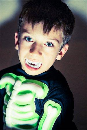 Boy wearing a Halloween costume. Stock Photo - Premium Royalty-Free, Code: 618-07457992