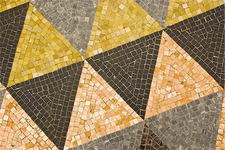Floor mosaic with triangle shapes, Milan, Italy Stock Photo - Premium Royalty-Free, Code: 618-07458192