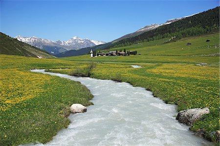 stream - Switzerland, Davos Stock Photo - Premium Royalty-Free, Code: 618-07458505