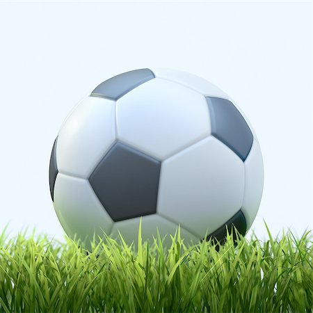 Soccer ball in grass Stock Photo - Premium Royalty-Free, Code: 618-07524255