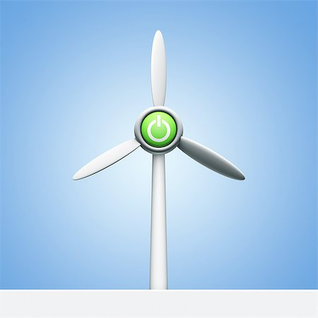 Power button on a wind turbine Stock Photo - Premium Royalty-Free, Code: 618-07612057