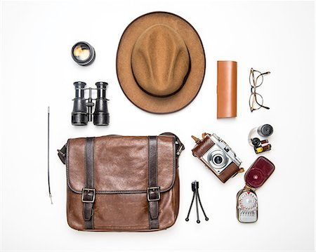 Various equipments of a traveller Stock Photo - Premium Royalty-Free, Code: 618-08067073
