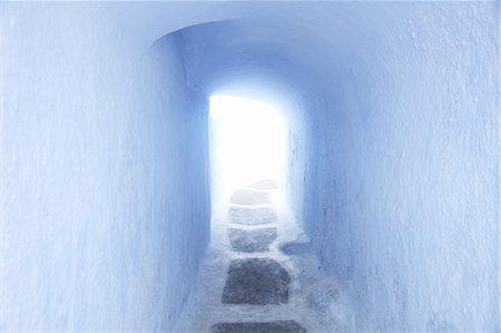 santorini - White Tunnel Stock Photo - Premium Royalty-Free, Code: 618-08067367