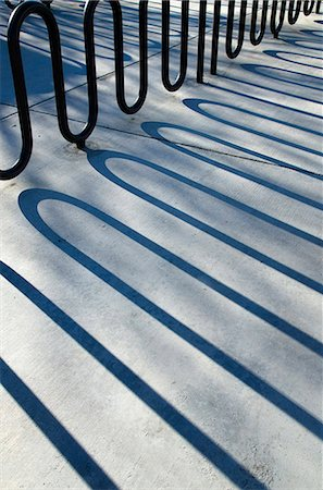 pattern - Bike rack shadows Stock Photo - Premium Royalty-Free, Code: 618-08102405