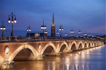 france - France, Bordeaux, Pont de Pierre bridge Stock Photo - Premium Royalty-Free, Code: 618-08102488