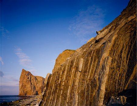 rugged landscape - Rocky headland and Perce Rock Stock Photo - Premium Royalty-Free, Code: 618-08184630
