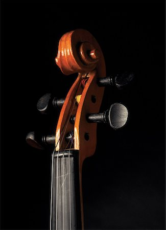 scroll (design) - head and keys of a cello Stock Photo - Premium Royalty-Free, Code: 618-00441812