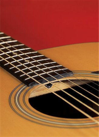 close-up of an acoustic guitar Stock Photo - Premium Royalty-Free, Code: 618-00441828