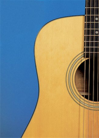 an acoustic guitar Stock Photo - Premium Royalty-Free, Code: 618-00441829