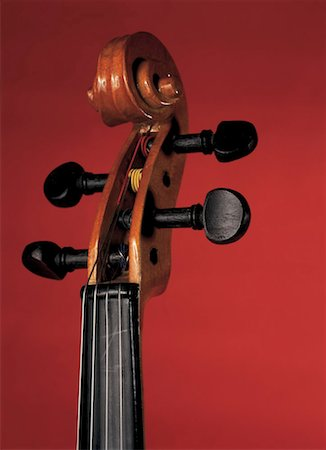 close-up of head and tuning keys of cello Stock Photo - Premium Royalty-Free, Code: 618-00441844