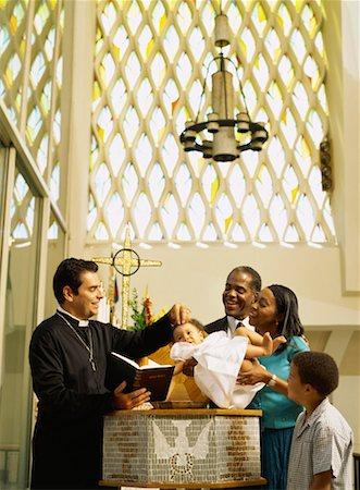 priest baptizing a baby girl Stock Photo - Premium Royalty-Free, Code: 618-00690068